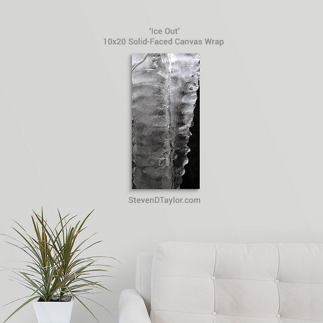 ICE-OUT-solid-faced-canvas-wrap-10x20-on-wall-STEVENDTAYLOR.COM
