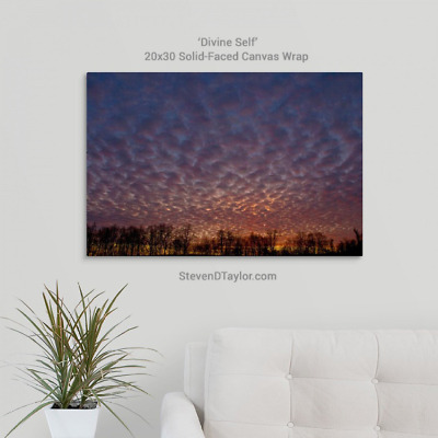 'Divine Self' solid faced canvas wrap 20x30 on wall - StevenDTaylor.com